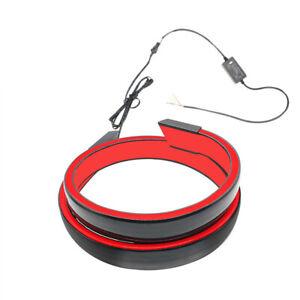 Car Rear Trunk LED Spoiler Lip Tail Wing Light Brake Turn Lamp 12V Universal
