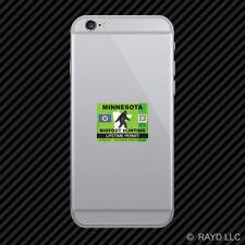Minnesota Bigfoot Hunting Permit Cell Phone Sticker Mobile Sasquatch Lifetime