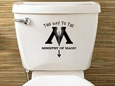 Vinyl Decal Harry Potter Inspired Ministry Of Magic Toilet Decal Sticker