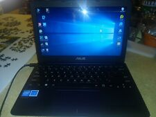 "Used ASUS EeeBook X205TA 11"" Laptop Netbook Windows 10 Navy Blue"