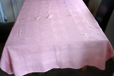 Vintage Debenhams 100% Cotton Dusky Pink Rectangular 100% Cotton Tablecloth