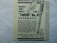 1949 YANKEE No. 41 PUSH DRILL vintage art print ad
