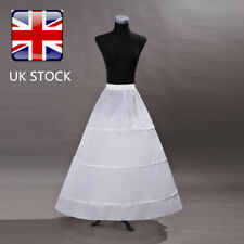 Wedding Bridal Crinoline Petticoat Dress Slip Skirt Underskirt 3 Hoop 1 Layer