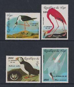 Niger - 1985, Luft J Audubon, Vögel Set - MNH - Sg 1021/4