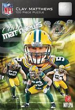 MASTERPIECES NFL JIGSAW PUZZLE CLAY MATTHEWS GREEN BAY 100 PCS HARD BOX #91534