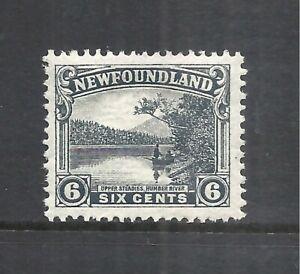 NEWFOUNDLAND SCOTT 138 MH VF - 1923/24 6c GRAY BLACK ISSUE   CV $6.50