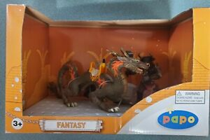 Papo Minotaur & Rising Sun Dragon Fantasy Set Action Figure 48940! New!
