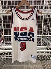 Vtg 90s Champion USA Basketball Jersey Michael Jordan #9 The Last Dance 44 (aa7)
