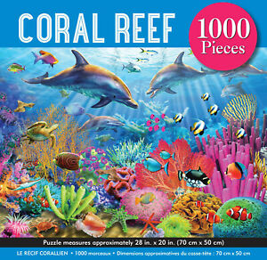 Coral Reef 1000 Piece Jigsaw Puzzle by Peter Pauper 70 x 50cm
