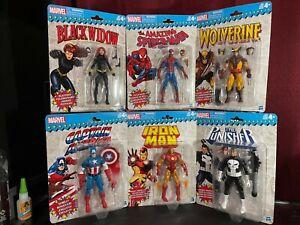 Marvel Legends Vintage Retro NEW Wave 1 Spider-Man Wolverine Captain America
