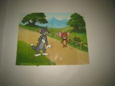 Tom & Jerry Animation Cel with Original Hand Painted Background Lot#A23