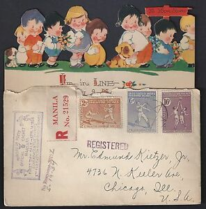 PHILIPPINES 1920's 70's COLLECTION OF 22 COMMERCIAL COVERS INCLUDING FDCs & TWO