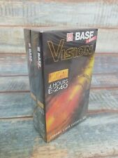 2 X BASF VHS Blank Video Tapes 4 Hours E 240 Casettes Chrome Factory .