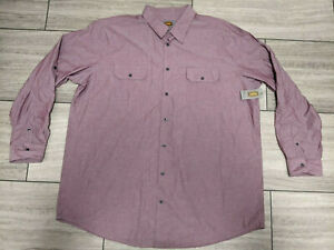 199) FOUNDRY SUPPLY CO SHIRT LONG SLEEVE SOLID COLOR 2XLT NEW WITH TAGS NWT