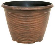 25.75L Copper Large Plant Pot Round Tall Plastic Planter Outdoor Garden Flower