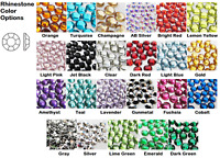 1000 Flatback Rhinestone, Faceted Round Acrylic Gems, Non-HotFix, 3D Nail Art