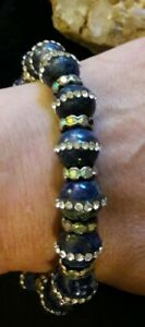 Artisan Crystal Lapis lazuli gemstone magnetic bracelet size Average