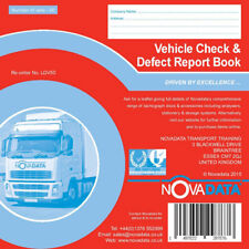 Novadata Vehicle Check & Daily Defect Report Pad 50 Duplicate Pages LGV