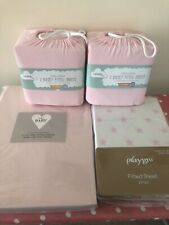 Baby Girl Cot Bed Pink 8 Sheet Bundle M&S George Playgro