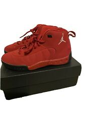 Preowned Boys Size 3Y Red Jordans