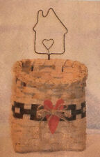 Basket Weaving Pattern Mail Pouch with a Heart Basket by Julie Kleinrath