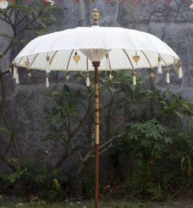 Bali Schirm balinesischer Sonnenschirm Handarbeit Garten Terrasse XL 180 cm Ø