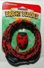 Schwinn Bright Buddies Kids Bike Cable Lock & Light Value pack Ladybug