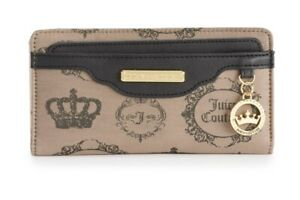Juicy Couture, Highline Large Clutch Wallet w JC Crown Medallion Dangle Charm