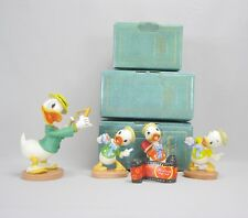 """WDCC Disney Set Mr. Duck Steps Out """"with Love From Daisy"""" """"Tag Along Trouble"""""""