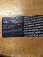 one Shambhala 2017 ticket for sale