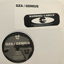 "GZA / GENIUS - LABELS (12"")  1995!!!  RARE!!!  RZA / WU-TANG!!!  LIQUID SWORDS!!"