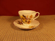 Duchess Bone China Yellow & Lavender Floral Design Cup & Saucer Set