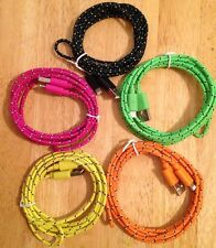 5x 6FT 2M USB Nylon Braided Charger Cable Cord FIT iPhone 7+ 8+ XR XS MAX 11 PRO