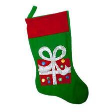 Rosso Natale Verde Calza con Feltro Foto - Regalo