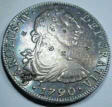 1790 Chopmarks Spanish Silver 8 Reales Eight Real Countermark Counterstamp Coin