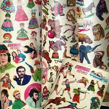 5 1970s..Transfer Sheets TV Stars, Circus, Sport, Dolls, Animals.. Made in JAPAN