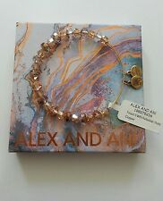 Alex and Ani Tinsel Copper Swarovski Crystal Beaded Bracelet BOX NWT Gold Rare