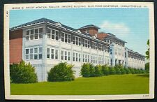 1930s G. W. Wright  Masonic Building,  Blue Ridge Sanatorium Charlottesville VA