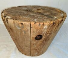"Antique Wooden Tapered Basket Mold Basketry Weaving 12"" by 9"""