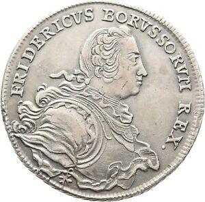 Brandenburg Preußen 1/2 Taler 1752 B, Breslau Münze Coin (D317)
