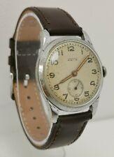 Vtg 1940s Astin 15 Jewel Military Style Swiss Gents Wrist Watch Hardy & Robin
