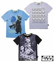 T-Shirt Jungen Star Wars kurzarm grau schwarz blau Gr. 116 128 134 140 152 #801