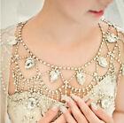 Bridal Shoulder Chain Necklace Rhinestone Crystal Choker Bid Necklace Body Chain