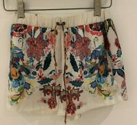 FLORAL SHORTS XS ZARA SILKY BEACH HOLIDAY FESTIVAL IBIZA MARBS GLAM CHIC PRETTY
