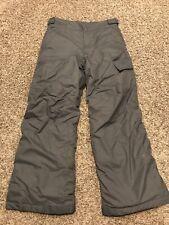 Columbia Youth Boys M Gray Nylon Snow Pants A11