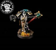 Warhammer 40K METAL Space Marines Chaplain with Crozius & Power Fist, PRO PAINT