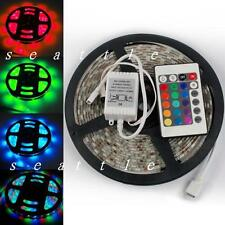 5M 3528 SMD RGB Waterproof 300 LED Light Strip + 24 Key Free IR Remote Controler