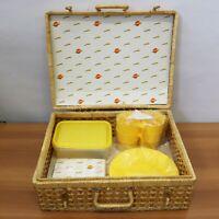 Kit Pic-nic Vimini con bicchieri e piatti set picnic 45x35x18 cm