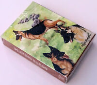 New Schnauze Playing Cards Poker Set by Ruth Maystead 4 Schnauzers Dogs