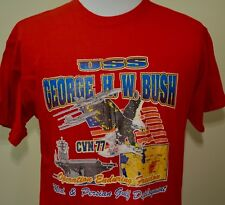 USS George HW Bush t-shirt red large Operation Enduring Freedom Afghanistan
